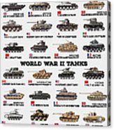 World War II Tanks Acrylic Print