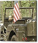 World War II Vet Acrylic Print by Andrea Dale
