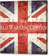 World War One Centenary Union Jack Acrylic Print by Jane Rix
