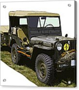 World War Two Army Jeep With Trailer  Acrylic Print