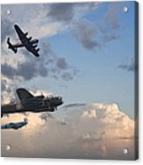 World War Two British Vintage Flight Formation Acrylic Print by Matthew Gibson