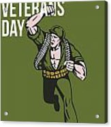 World War Two Veterans Day Soldier Card Acrylic Print