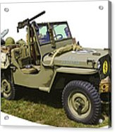 World War Two - Willys - Army Jeep  Acrylic Print
