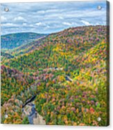Worlds End State Park Lookout Acrylic Print