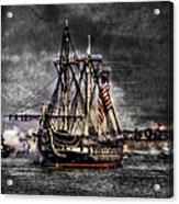 World's Oldest Commissioned Warship Afloat - Uss Constitution Acrylic Print by Ludmila Nayvelt