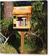 World's Smallest Library Acrylic Print