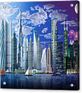Worlds Tallest Buildings Acrylic Print
