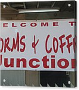 Worms And Coffee Junction Acrylic Print