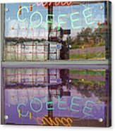 Worms And Coffee Sign Acrylic Print
