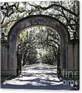 Wormsloe Plantation Gate 2x3 Acrylic Print