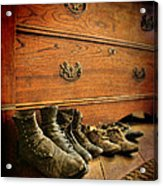 Worn Family Shoes Linded Up Acrylic Print