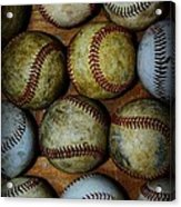 Worn Out Baseballs Acrylic Print