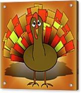 Worried Turkey Illustration Acrylic Print