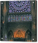 Worship In Notre Dame Acrylic Print