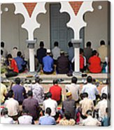 Worshipers At Friday Prayers - Masjid Jame - Friday Mosque - Kuala Lumpur - Malaysia Acrylic Print