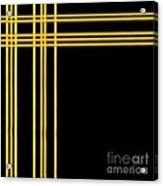 Woven 3d Look Golden Bars Abstract Acrylic Print