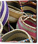 Woven Baskets Acrylic Print