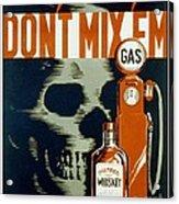 Wpa  Vintage Safety Poster Acrylic Print