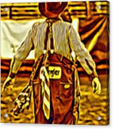 Wrangler Clown Acrylic Print