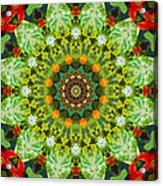 Wreath Kaleidoscope Acrylic Print