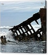 Wreck Of The Peter Iredale Acrylic Print