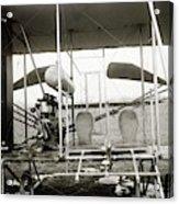 Wright Biplane Engine And Seats Acrylic Print