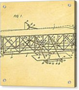 Wright Brothers Flying Machine Patent Art 1906 Acrylic Print