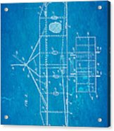 Wright Brothers Flying Machine Patent Art 2 1906 Blueprint Acrylic Print