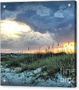 Wrightsville Beach South End Sunset Acrylic Print