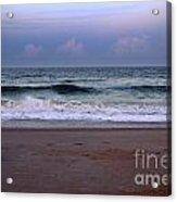 Wrightsville Sunset Waves Acrylic Print