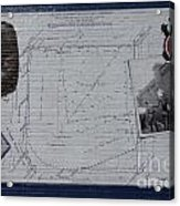 Wrigley Field - Plat Of Survey Acrylic Print by David Bearden