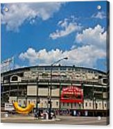 Wrigley Field And Clouds Acrylic Print