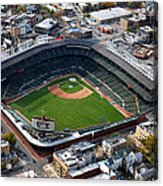 Wrigley Field Chicago Sports 02 Acrylic Print by Thomas Woolworth