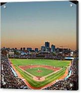 Wrigley Field Night Game Chicago Acrylic Print