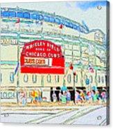 Wrigley Field Sketch Acrylic Print