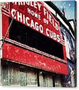 Wrigley Red Acrylic Print by Jame Hayes