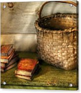 Writer - A Basket And Some Books Acrylic Print