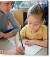 Writing Lesson Acrylic Print