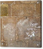 Writing On The Wall Acrylic Print