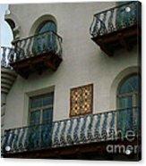 Wrought Iron Balconies Acrylic Print