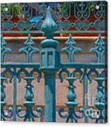 Wrought Iron Fence Acrylic Print