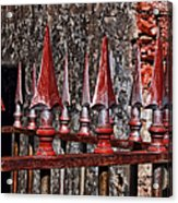 Wrought Iron Fence Spears Acrylic Print