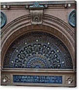 Wrought Iron Grille - The Omaha Building Acrylic Print