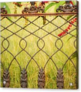 Wrought Iron With Red And Green Acrylic Print