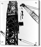 Wtc Fueling Crane  Acrylic Print