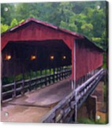 Wv Covered Bridge Acrylic Print