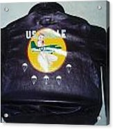 Ww2 Aircraft Jacket Art Acrylic Print