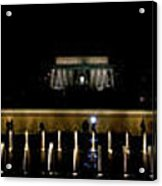 Ww2 And Lincoln Memorials Acrylic Print