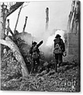 Wwi American Soldiers  Acrylic Print by Photo Researchers