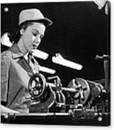 Wwii Woman War Worker Acrylic Print